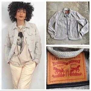MLevi Strauss & Co trucker jacket wool blend gray L